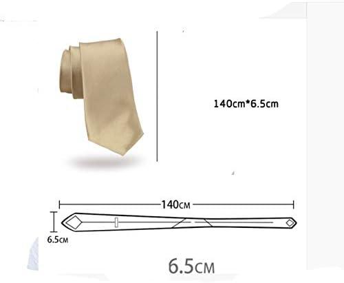 NLXTXQC Narrow Version 6.5cm Champagne Tie Business Casual Wedding Groom Accessories Gentleman Work Neckwear Pre Tied