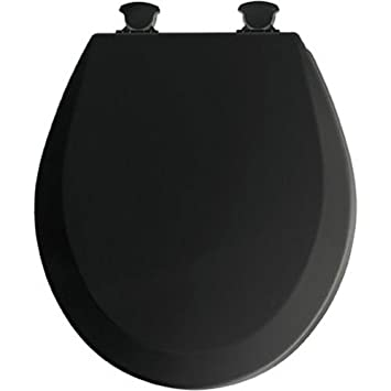 wooden black toilet seat. Mayfair 46EC 047 Molded Wood Toilet Seat with Lift Off Hinges  Round Black