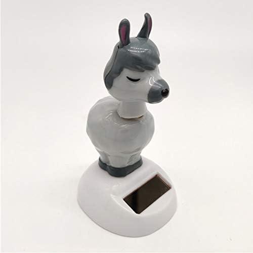 Alpaka Solarfigur Spielzeug Wackelfigur Dekofigur für Zimmer Büro Auto Deko