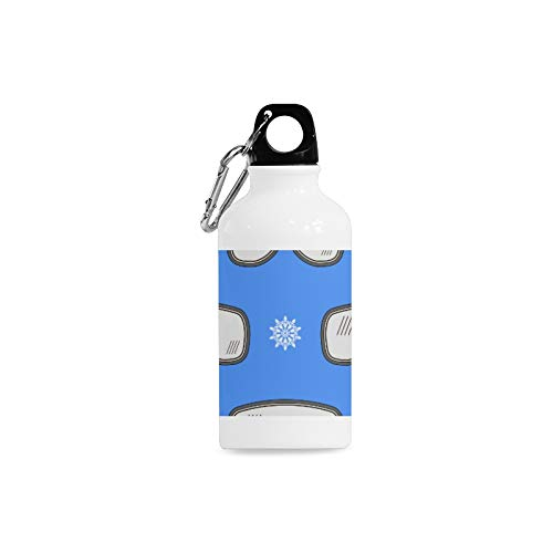(WJJSXKA Outdoor Simple Fashion Travel Goggles Hand-Painted Creative Print Design Sport Water Bottle Aluminum Stainless Steel Bottle Aluminum Sport Water Bottle)