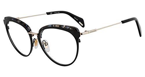 - Eyeglasses Police VPL 734 Black Marble 08AM