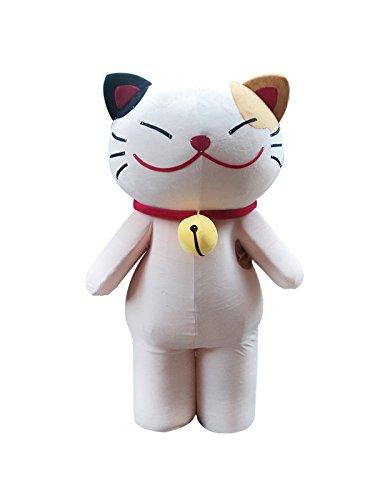 Sinoocean Fortune Cat Beckoning Cat Maneki-Neko Adult Mascot Costume Fancy Dress (Maneki Neko Costume)