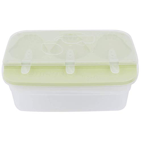 Popsicle Molds with Spoon Cute Chicken Style DIY Ice Cream Maker Mould Chocolate Tray Making Tool (Green)