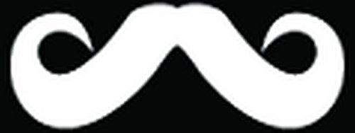 Man Mustache Type Facial Hair Car Truck Window Bumper Vinyl Graphic Decal Sticker- (10 inch) / (25 cm) Wide GLOSS BLACK - Male Facial Of Hair Types