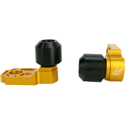 Driven Racing Axle Block Sliders Gold - Fits: Kawasaki Ninja 650R 2012-2016