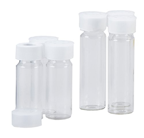 (GE Analytical Instruments HMI 90707-01 Clear Borosilicate Glass Total Organic Carbon (TOC) Precleaned Sample Vials with Cap, Septa, Dust Cap, 40 mL (Pack of 72))