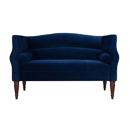Amazon.com: Brika Home Camelback Settee in Navy Blue ...