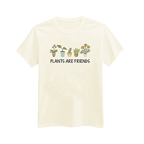 Andre's Designs Unisex Adult's Plants Are Friends - Gardening - Tree - Nature XS Ivory
