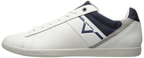Diesel Mens Happy Hours S-judzy Fashion Sneaker Bianco / Blu Medievale