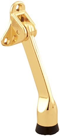 CRL Bright Brass Finish Door Mounted Economy Stop and Holder