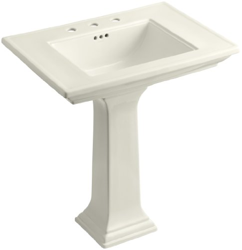KOHLER K-2268-8-96 Memoirs Pedestal Bathroom Sink with 8