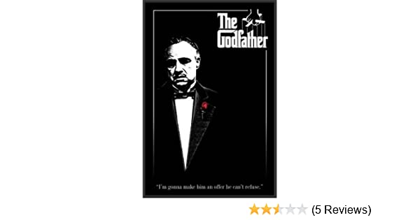 Amazon.com: The Godfather (Rose) Movie 24x36 Wood Framed Poster Art ...