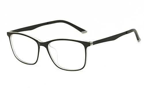 Progressive Lady Costume (Embryform UlTRa-Light TR90 Elastic Paint Glasses Frame Clear Lenses)