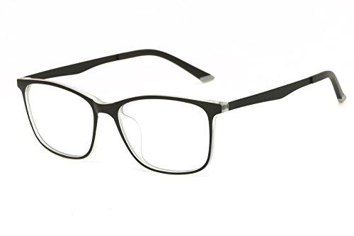 Progressive Lady Costume (Embryform UlTRa-Light TR90 Elastic Paint Glasses Frame Clear Lenses)