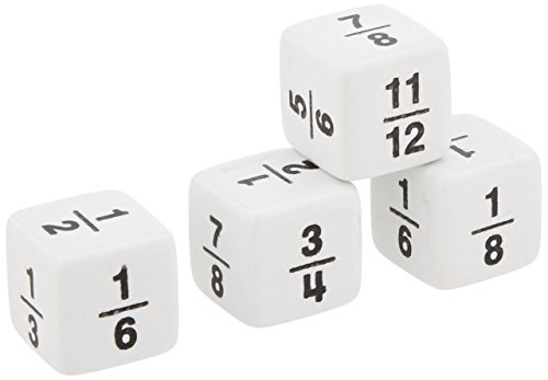 n Dice - Set of 4 - White (Fraction Dice Set)