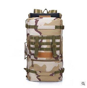 Mefly Las Tácticas Militares Mochila Mochila 50L Para Hombres Camuflaje Viajes Diarios De Gran Capacidad Pack Hombro Bolsos Para Mujer Negro sand