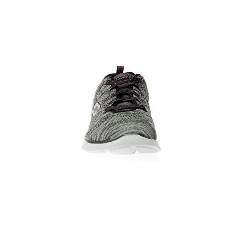 Skechers - Zapatillas para deportes de interior para mujer gris gris 38