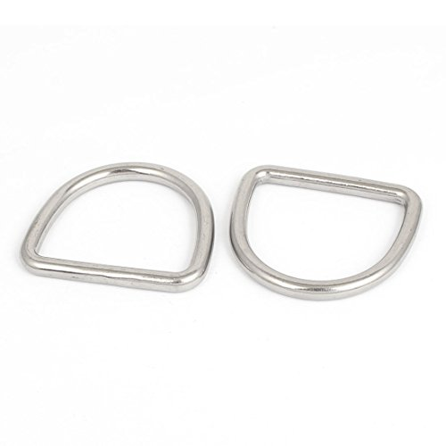 ® Stainless Steel D Ring Hooks D-Shaped Belt Buckles 8 Pcs