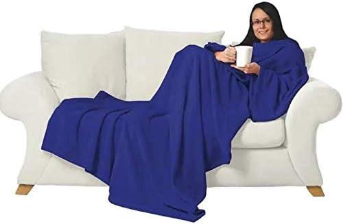Batamanta manta para sofa con mangas, con bolsillo y zapatillas de ...