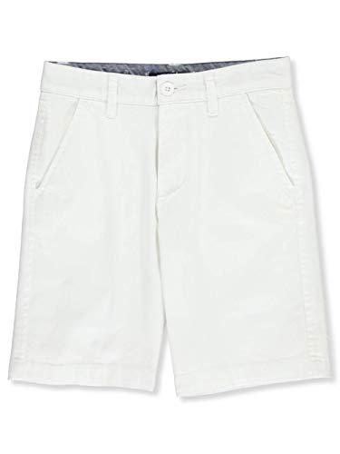 Nautica Big Boys' Stretch Flat Front Short, Deck White, 14