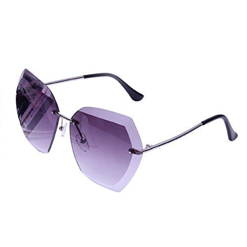 de Blanco Cristal Pieza Sol Chakil para de 1 Gafas Mujer Marco sin Grande gris Color ZOTgw5xq