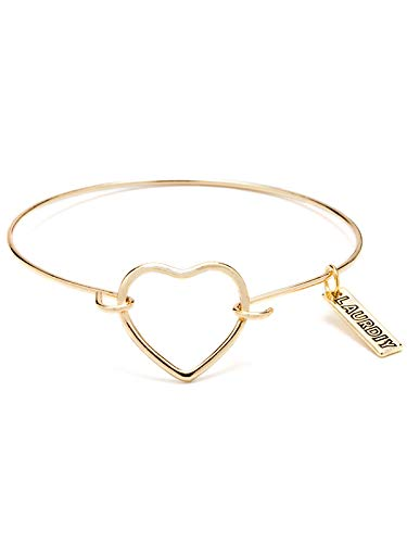 LaurDIY 37600085 Finished Gold Heart Bracelet, Multi - Gold Finished Iron
