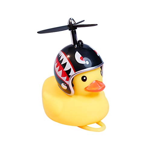 ANLIS Bicycle Duck Bell with Light Broken Wind Small Yellow Duck MTB Road Bike Motorcycle Helmet Riding Cycling…