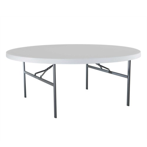 Charming Lifetime 22673 Folding Round Table, 6 Feet, White Granite