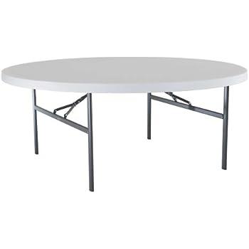 Amazoncom Lifetime 22673 Folding Round Table 6 Feet White