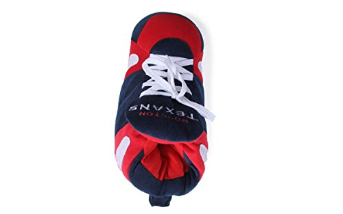 Comfy and OFFICIALLY Womens Mens LICENSED Slippers Texans NFL Happy Feet Sneaker Houston Feet Y64rqY