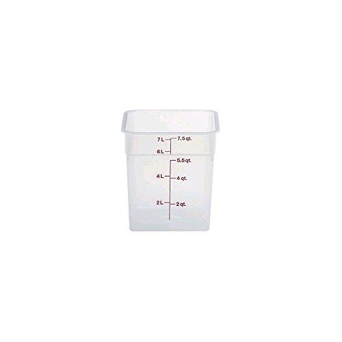 Cambro (8SFSPP190) 8 qt Polypropylene Food Storage Container - CamSquare 8 Quart Rose