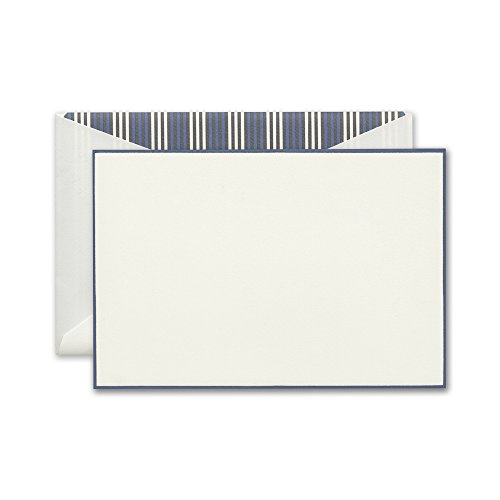 Crane & Co. French Blue Bordered Correspondence Card (CC3408)