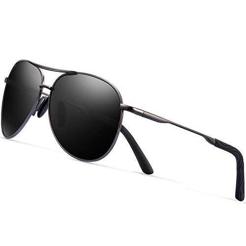 351d51836a66 Polarized Aviator Sunglasses for Men - Feirdio Metal Frame Sports UV 400  Protection Mens Unisex Sunglasses 2261