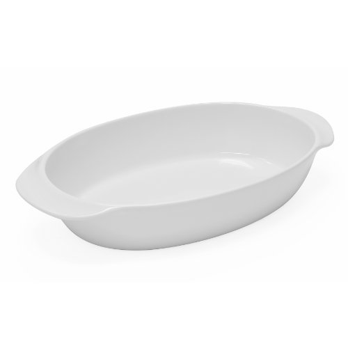 Chantal 93A-OV36T WT Classic Oval Baking Dish, 14 by 10 by 2.75-Inch, Glossy White by Chantal