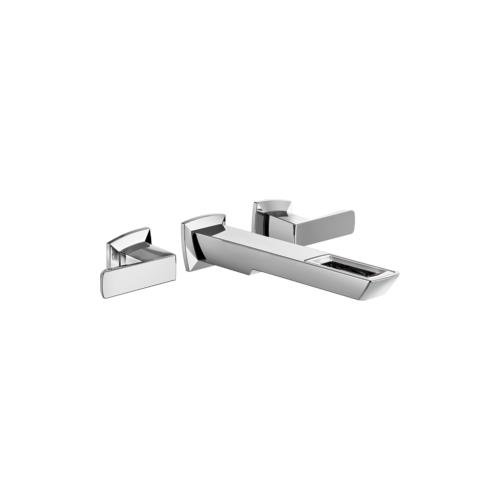 Brizo T65886LF-PC-ECO - Brizo Vettis: Two-Handle Wall Mount Lavatory Faucet With Open-Flow Spout Chrome T65886LF-PC-ECO. (Brizo Wall Mount Lavatory)