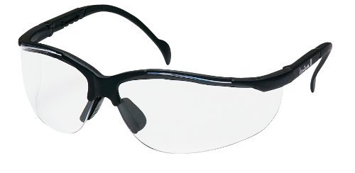 Safety Glasses Venture II Clear Lens w/ Adjustable Temple 12 Pair Per Box by Pyramex Safety - MS97250
