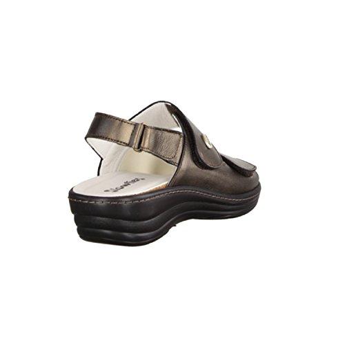 Slowlies 155HA- Damenschuhe Sandale bequem / lose Einlage, Braun, leder (nappa), absatzhöhe: 30 mm