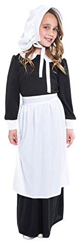 Pilgrim Girl Child Costume - Medium -