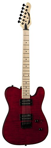 - Dean NV FM TRD NashVegas Flame Hum Hum Solid-Body Electric Guitar, Trans Red