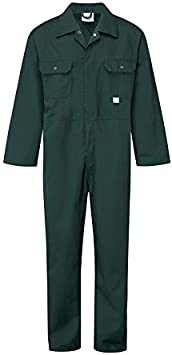 Blue Castle 344//GN-54 54-Inch Stud Front Boilersuit Coverall Green