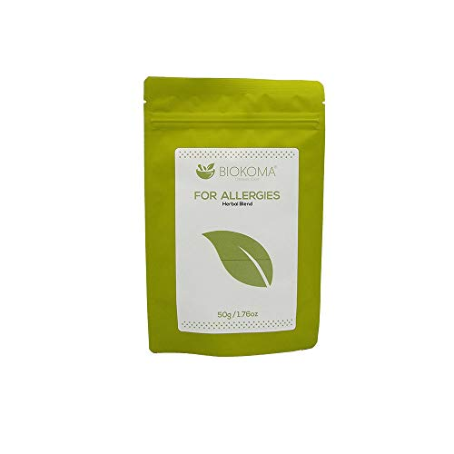 100% Pure and Organic Biokoma for Allergies 50g 1.76oz Blend - Eyebright Nettle Compound