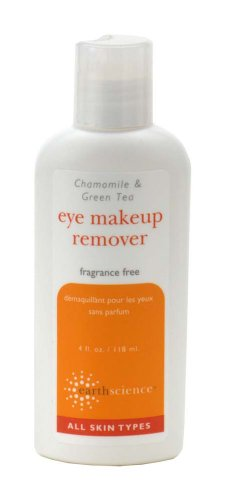 Earth Science Chamomile & Green Tea Eye Makeup Remover, 4-Ounce Bottles (Pack of 3)