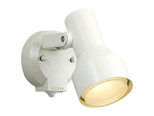 コイズミ照明 人感センサ付スポットライト タイマー付ON-OFFタイプ 散光 白熱球100W相当 オフホワイト塗装 AU40621L B00KVWKQC4 16002