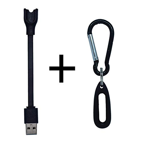 DDJOY Compatible Accessory Pack for Pokemon Go Go-tcha, Includes 1 x  Charger Cable and 1 x Silicone Case with Carabiner Keychain (Black)