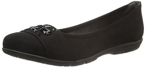 Flats Ballet 22160 Black Women's Softline Black 001 ZWv44p