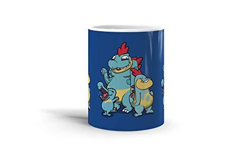 Ceramic Coffee Mug Gamer Video Game Cup Cavemen Crocodiles Gaming Computer Drinkware Super White Mugs Family Gift Cups 11oz 325ml