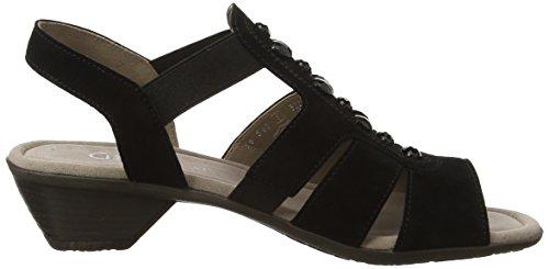 Gabor Shoes Fashion, Sandalias con Cuña para Mujer Negro (schwarz 17)