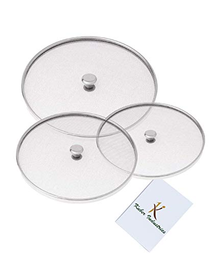 Kuber Industries™ Stainless Steel Food Cover/Milk Cover Jali/Steel Jali/Multipurpose Net Lid Set of 3 Pcs (7 & 8 & 9 Inches) Code-Net39 Price & Reviews