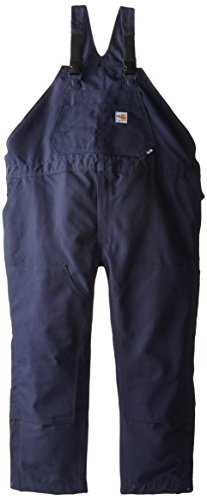 - Carhartt Men's Big & Tall Flame Resistant Duck Bib Overall,Dark Navy,54Wx30L