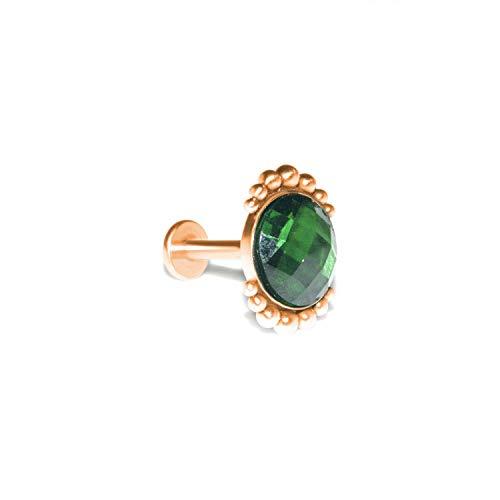 Internally Threaded Labret Barbell, Monroe Piercing Jewelry 16g, Medusa Earring CZ, Lip Jewelry, Piercing Jewelry
